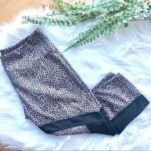 ONZIE animal print high waist crop yoga pants